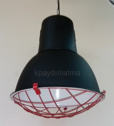 KP AYDINLATMA - SS2 Atölye Tipi Kafesli Armatür P.SİYAH